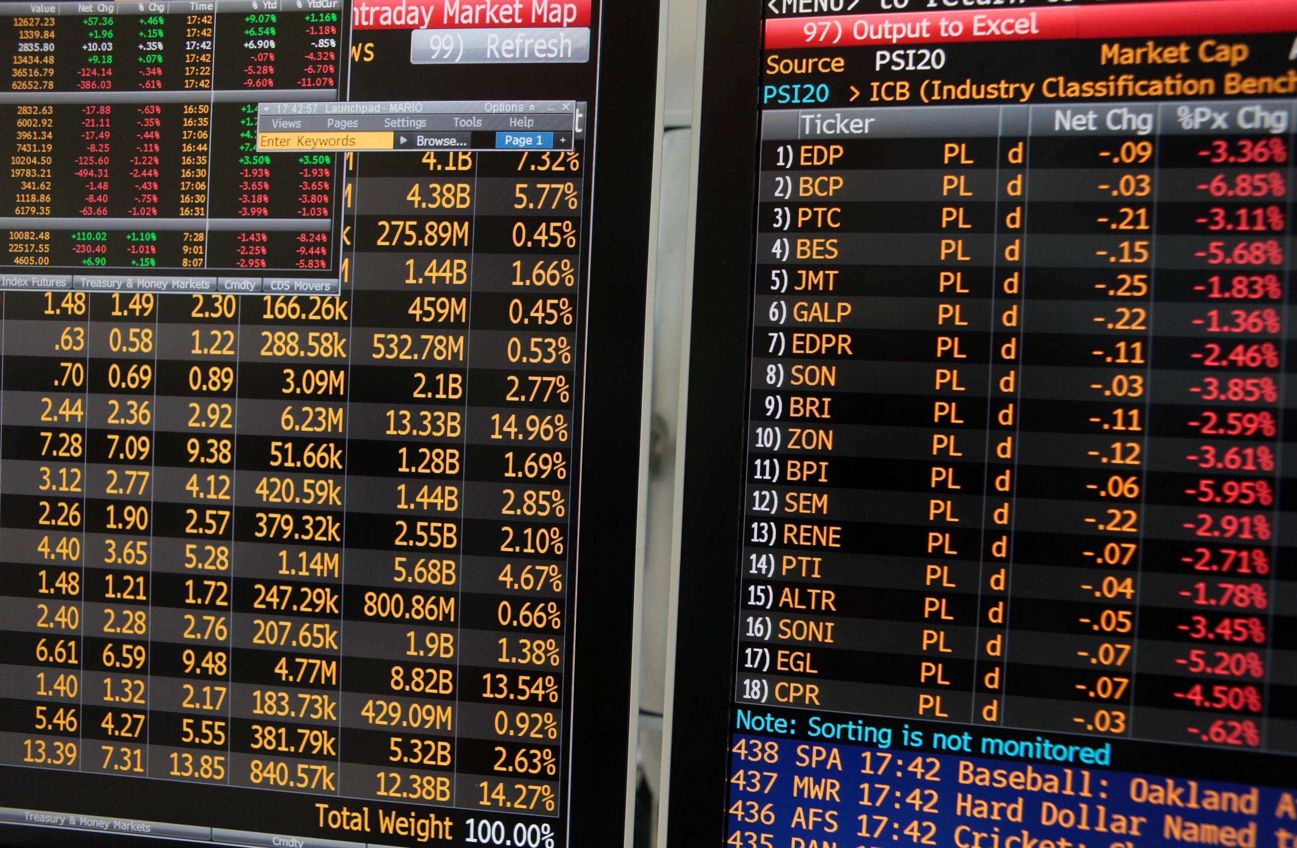 Bolsas europeias mistas depois de Wall Street ter terminado em alta