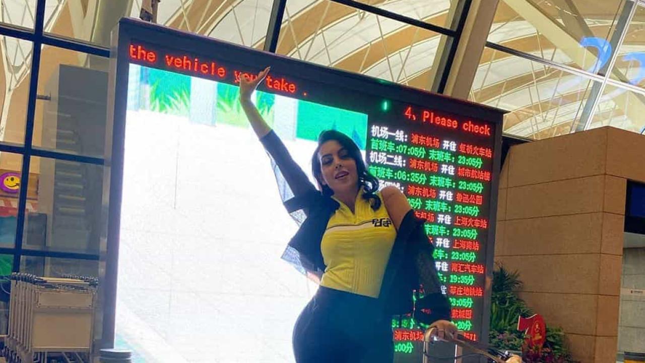 """Georgina Rodríguez terminou viagem à China """"cansada mas feliz"""""""