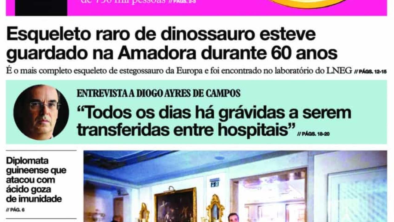 Hoje é notícia: Esqueleto de dinossauro na Amadora; O Fisco vigia-o - Notícias ao Minuto