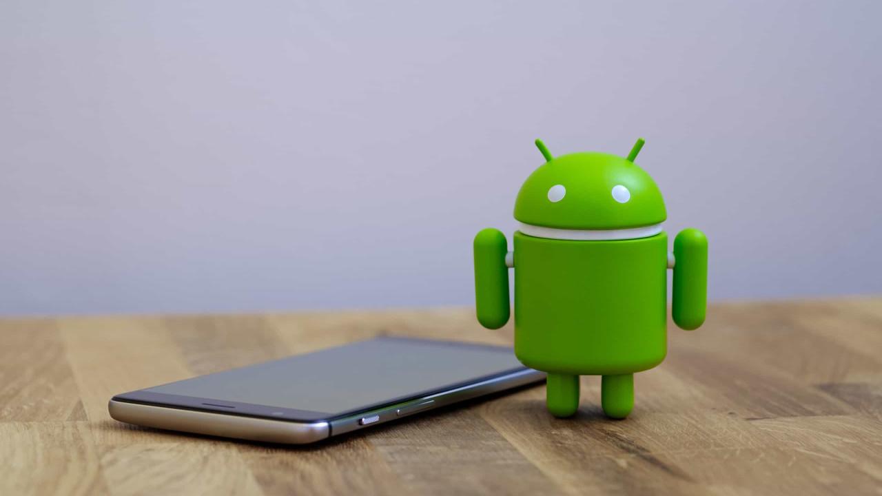 Smartphones Android bloqueados com imagem como fundo de ecrã