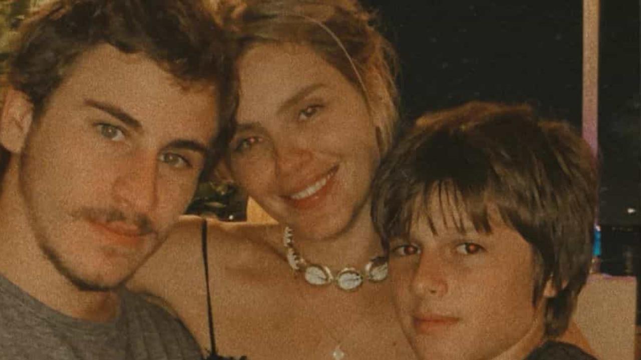Carolina Dieckmann começou celebrações de aniversário com os filhos