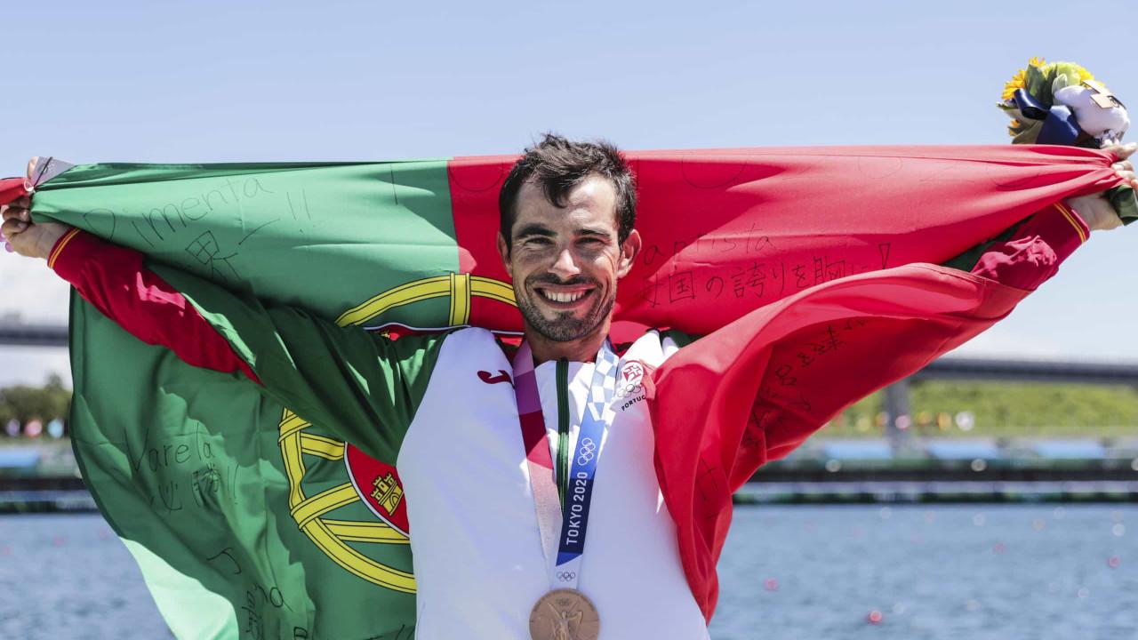 """Fernando Pimenta cumpriu """"um dos sonhos"""" com bronze no K1 1.000"""