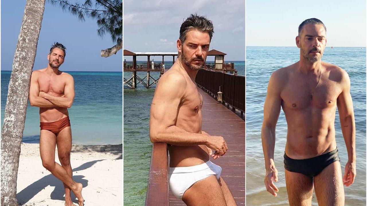 Sucesso de verão no Instagram. Cláudio Ramos e as suas mil e uma sungas