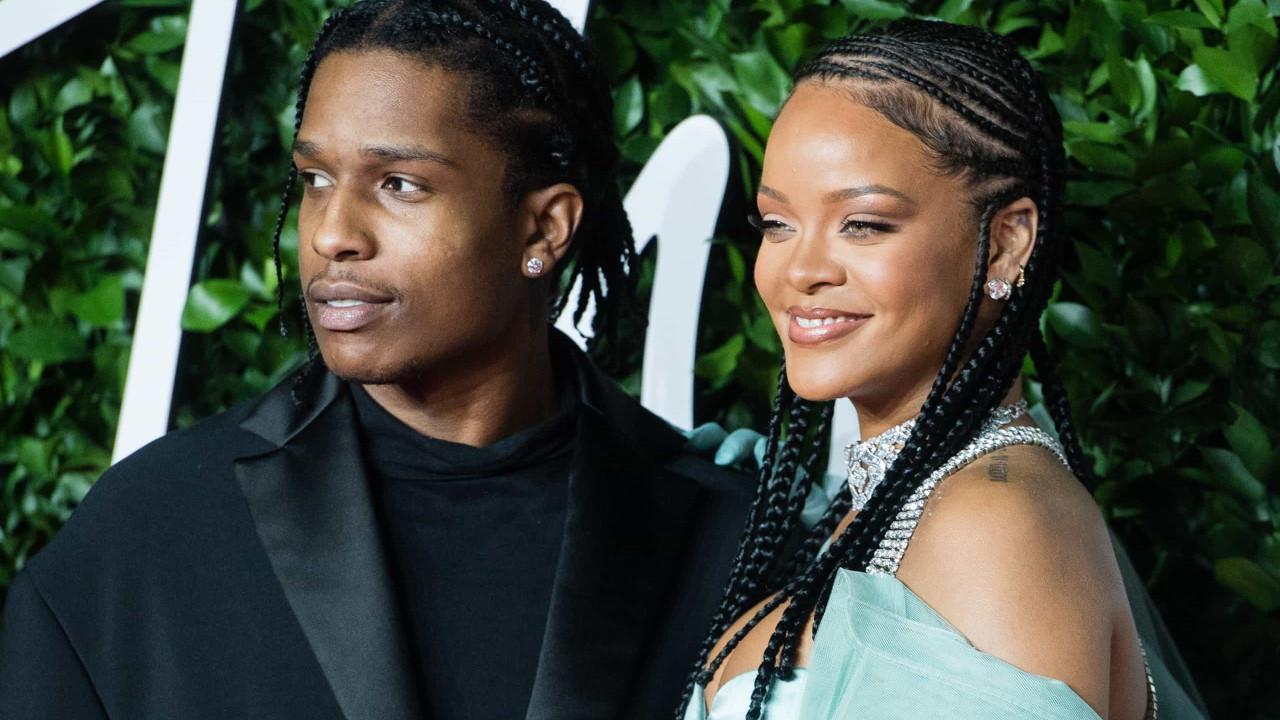 O look atrevido de Rihanna para um jantar romântico com A$AP Rocky