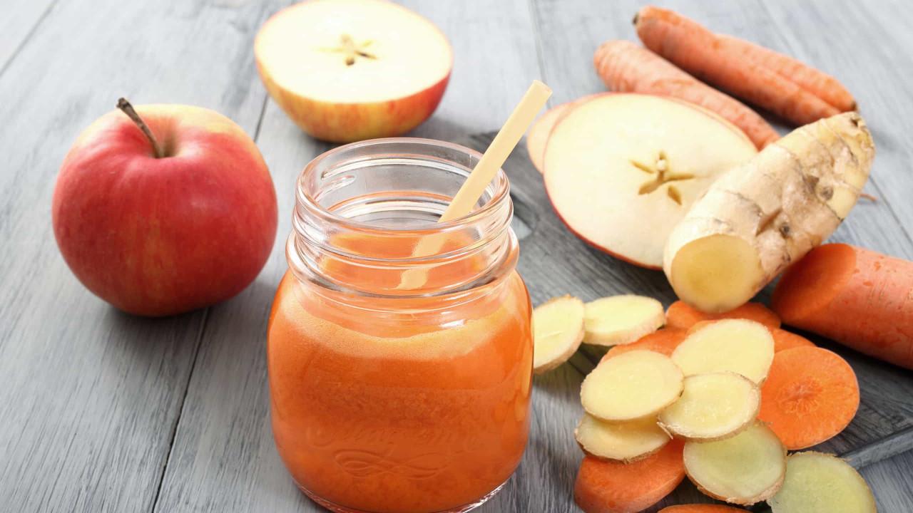 Corpo de verão! Este detox de cenoura, gengibre e maçã 'derrete' gordura