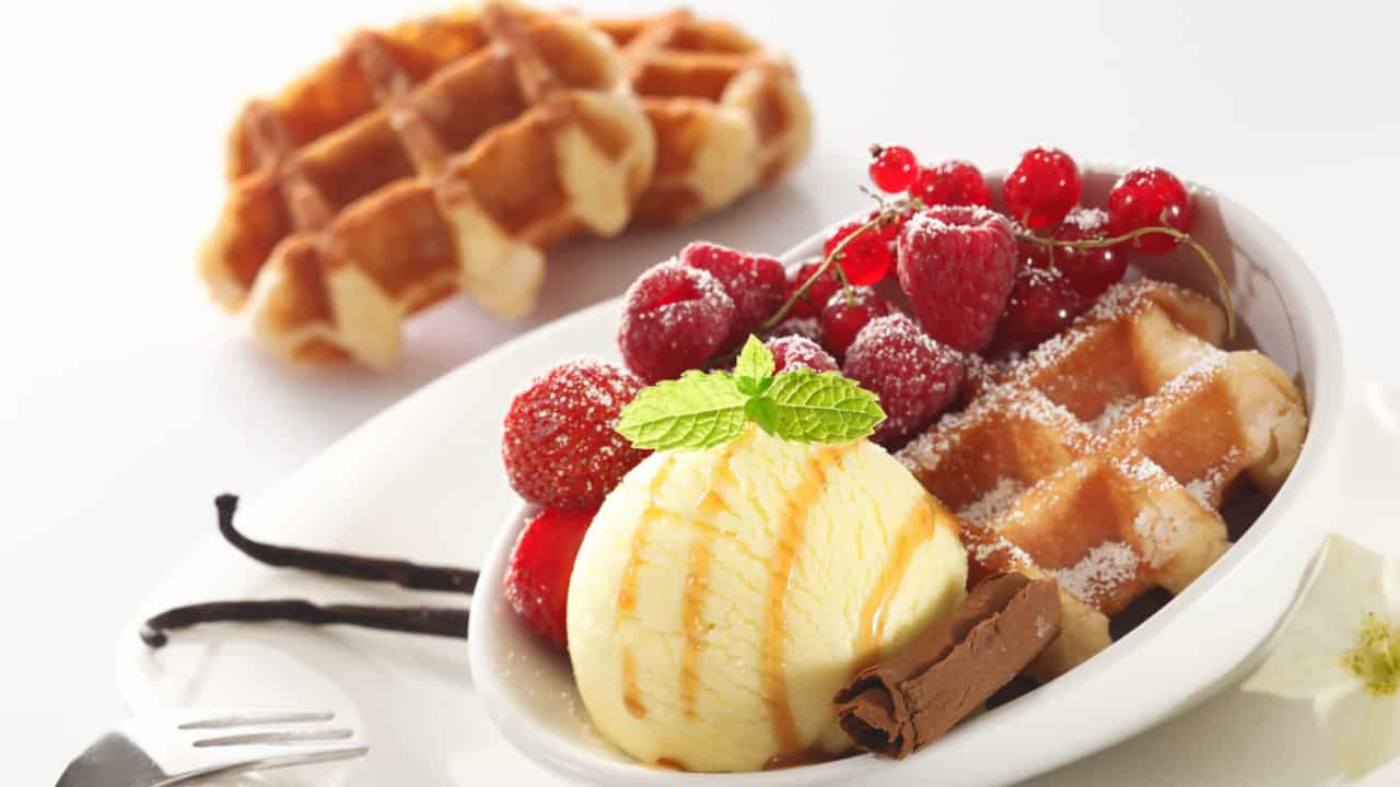 Alerta gulosos! Sanduíches de waffle com gelado