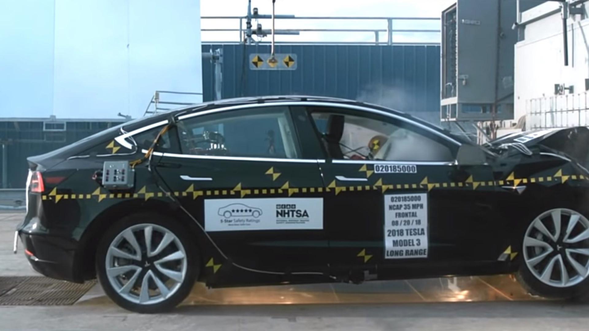 Vídeo mostram como Model 3 da Tesla o protege em caso de acidente