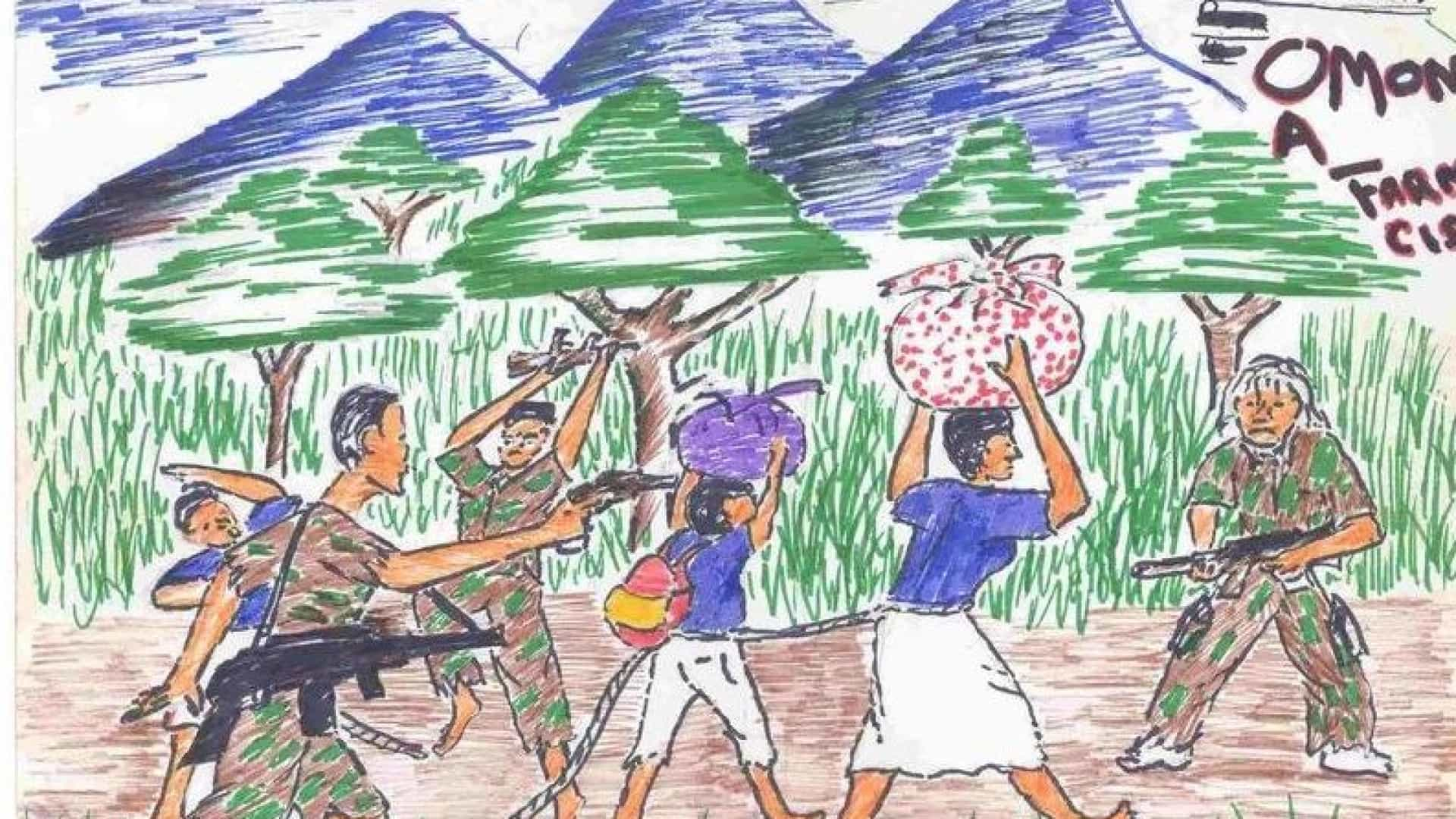 Os Desenhos Feitos Por Criancas Vitimas De Violencia Ou Da Guerra
