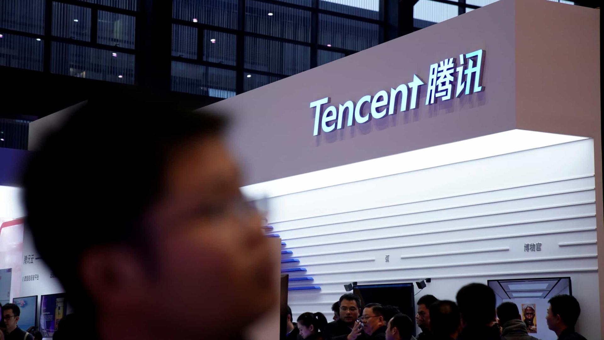 Tencent. As empresas de videojogos com participação da gigante chinesa