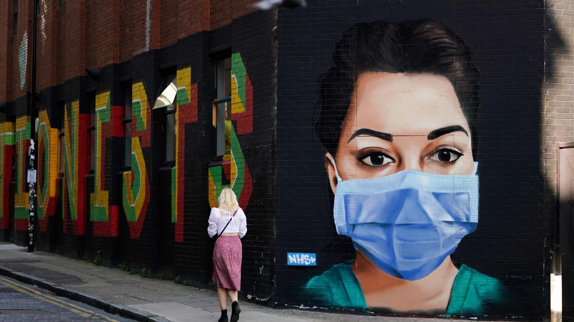 Reino Unido supera os 260 mil casos de infeção. Morreram mais 121 pessoas