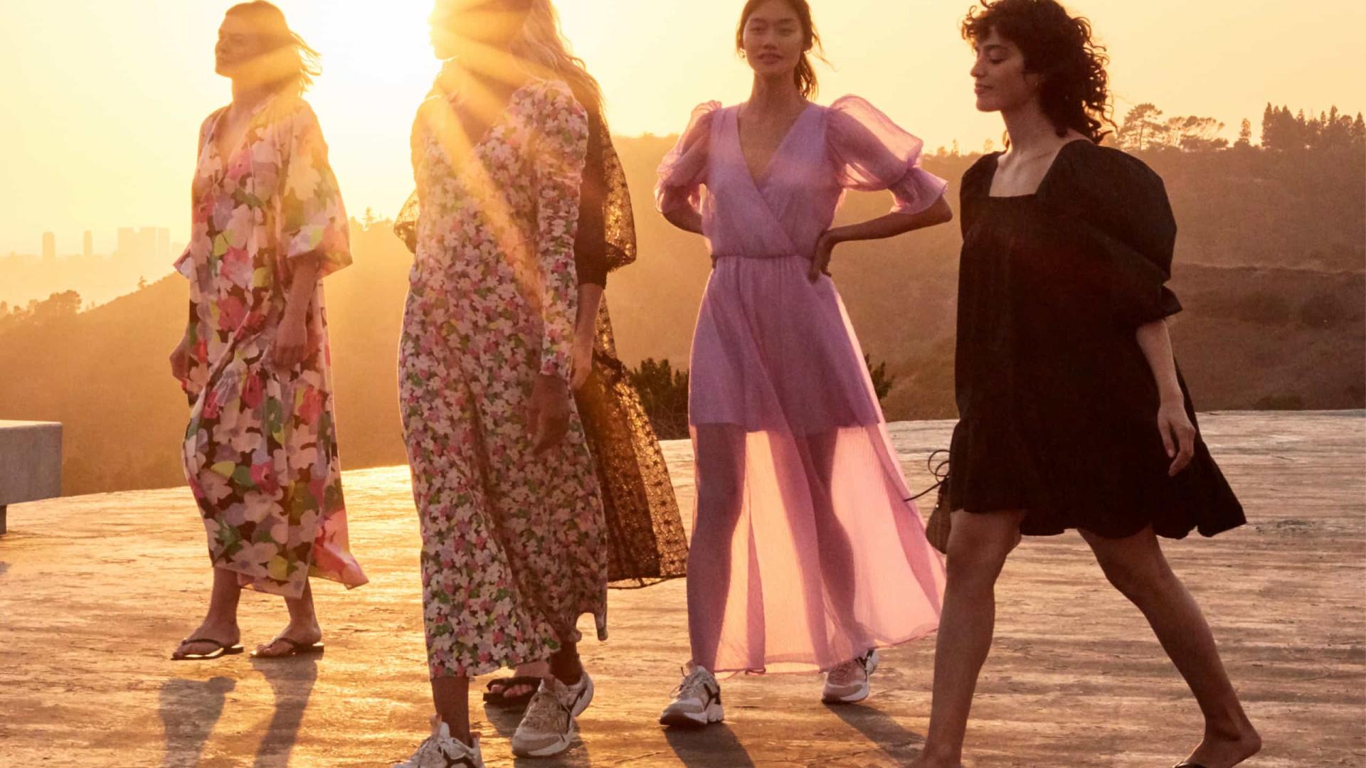 Sonhos de dias de verão: H&M lança vestidos com materiais reciclados