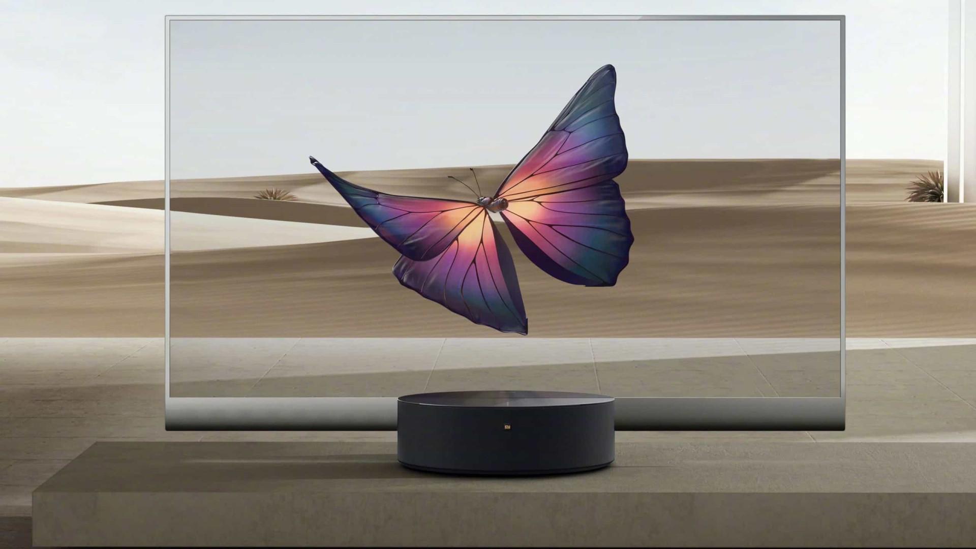 A nova televisão da Xiaomi é transparente e algo como nunca viu