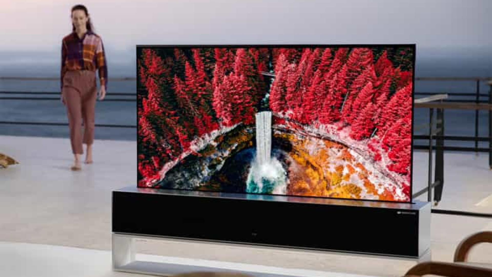 A LG vai começar a vender a sua televisão 'enrolável'