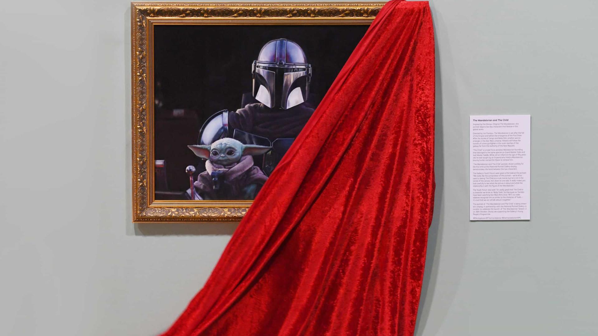 'The Mandalorian' homenageado com retrato em museu londrino
