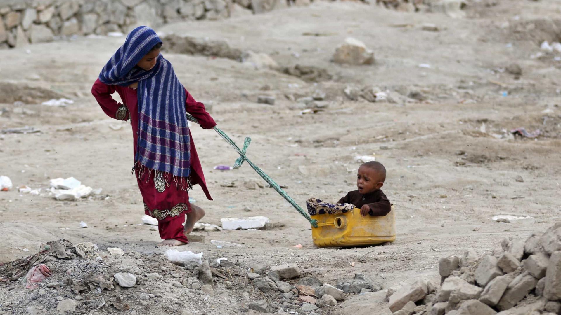 Crianças são quase metade dos deslocados internos no mundo