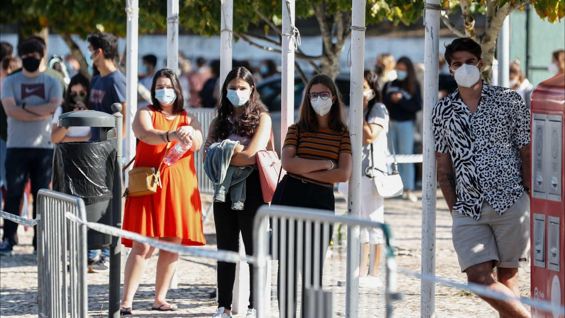 Incidência segue a descer. Portugal está na zona verde da matriz de risco