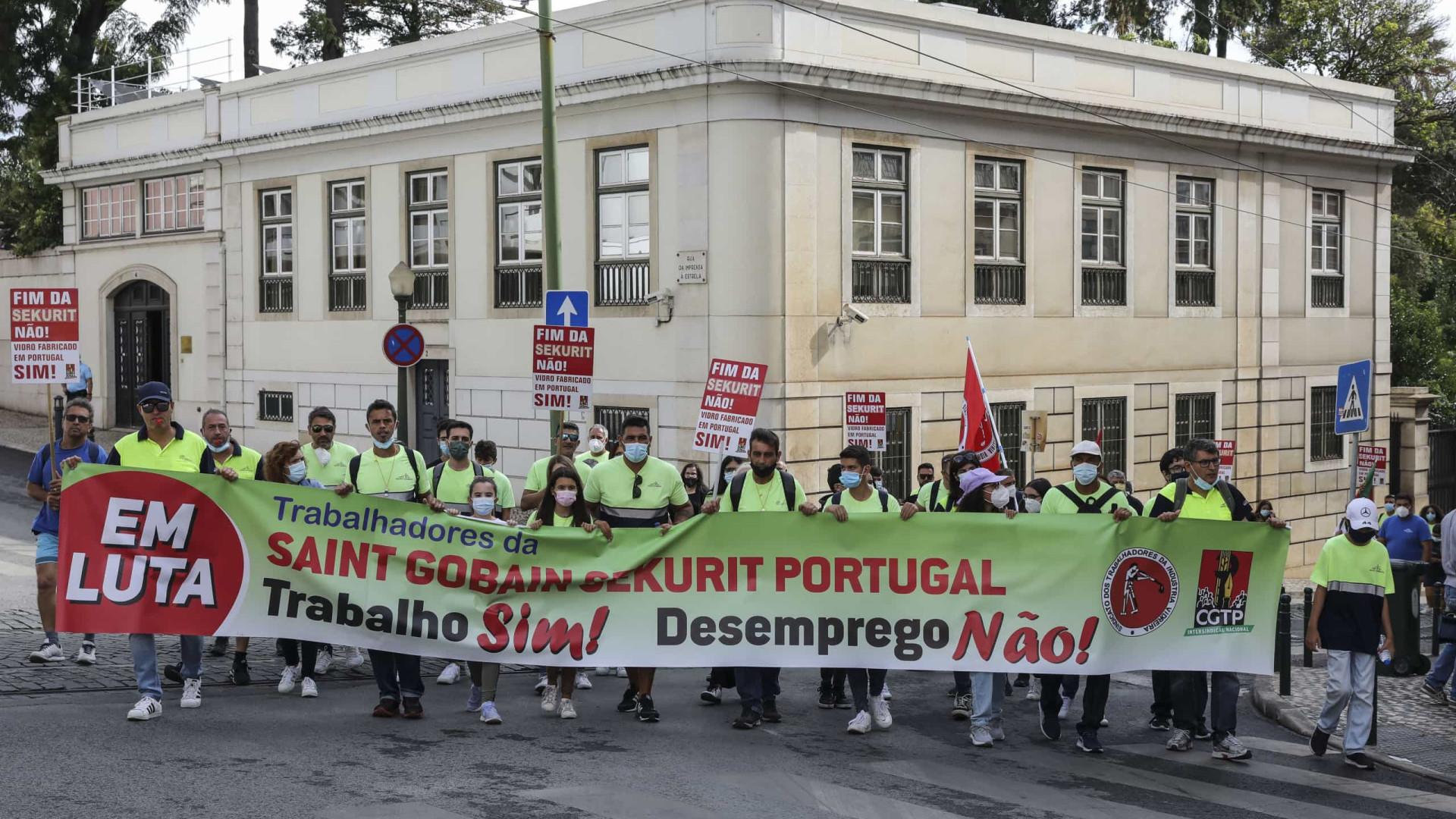 Trabalhadores da Saint-Gobain criticam Governo e prometem mais luta