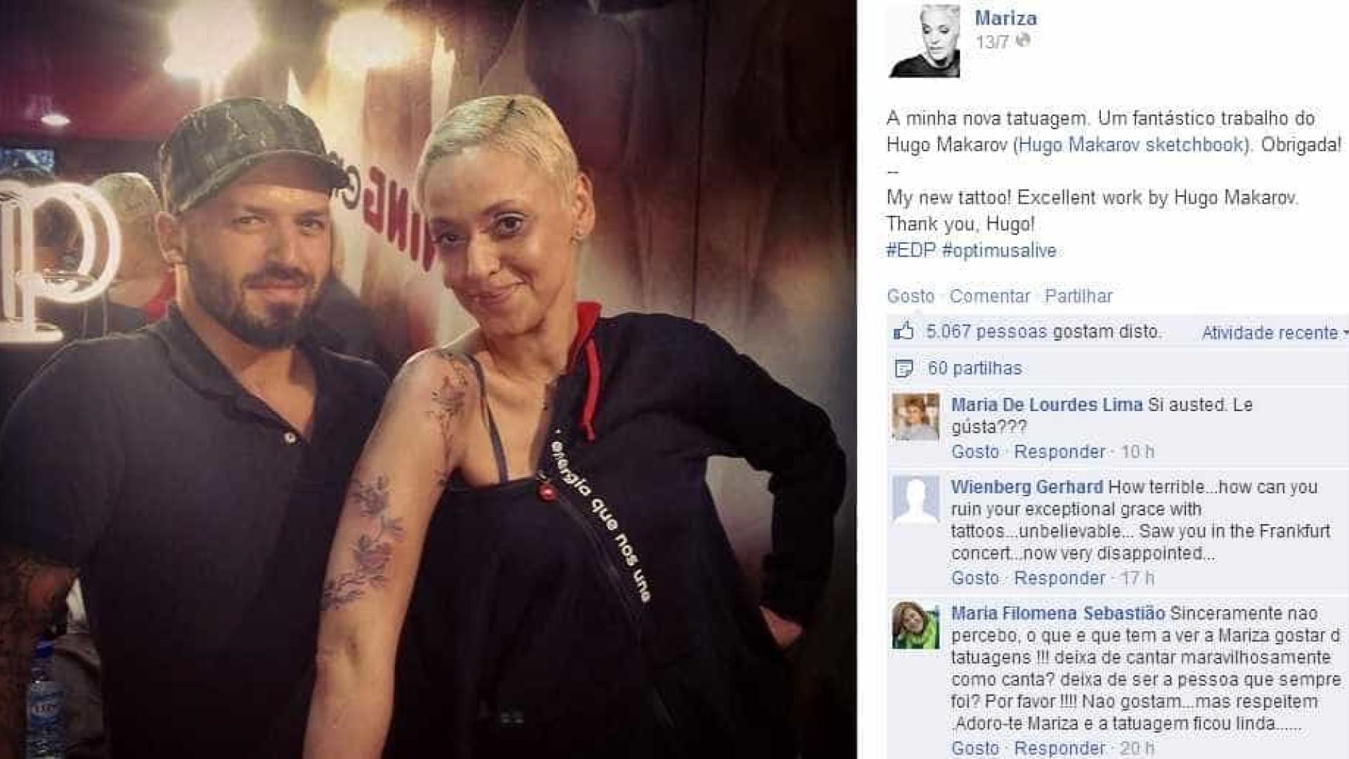 Mariza Admite Ser Fã De Tatuagens
