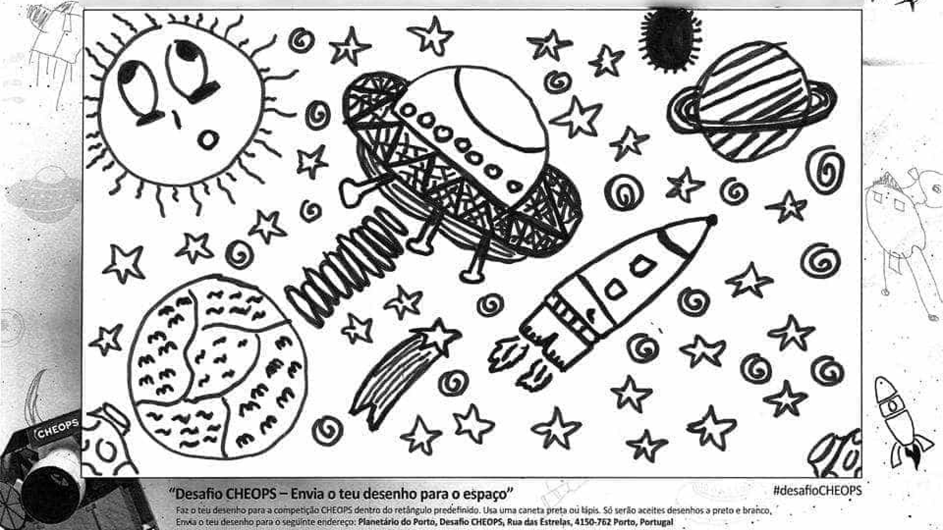 Desenhos De Criancas Portuguesas Vao Para O Espaco Em Missao Europeia