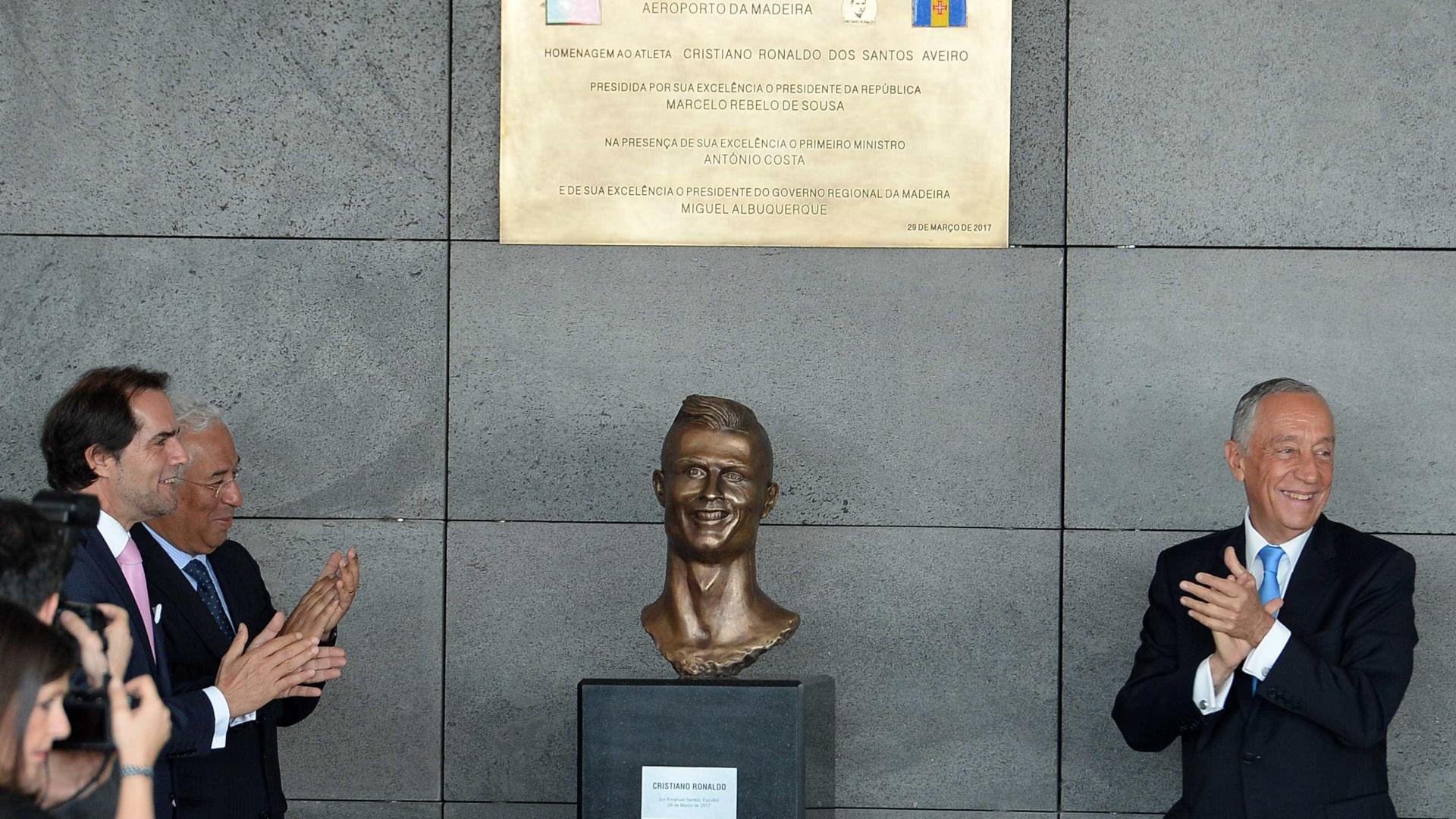 99135f8852f17 Ronaldo já tem 'cara nova' no Aeroporto da Madeira