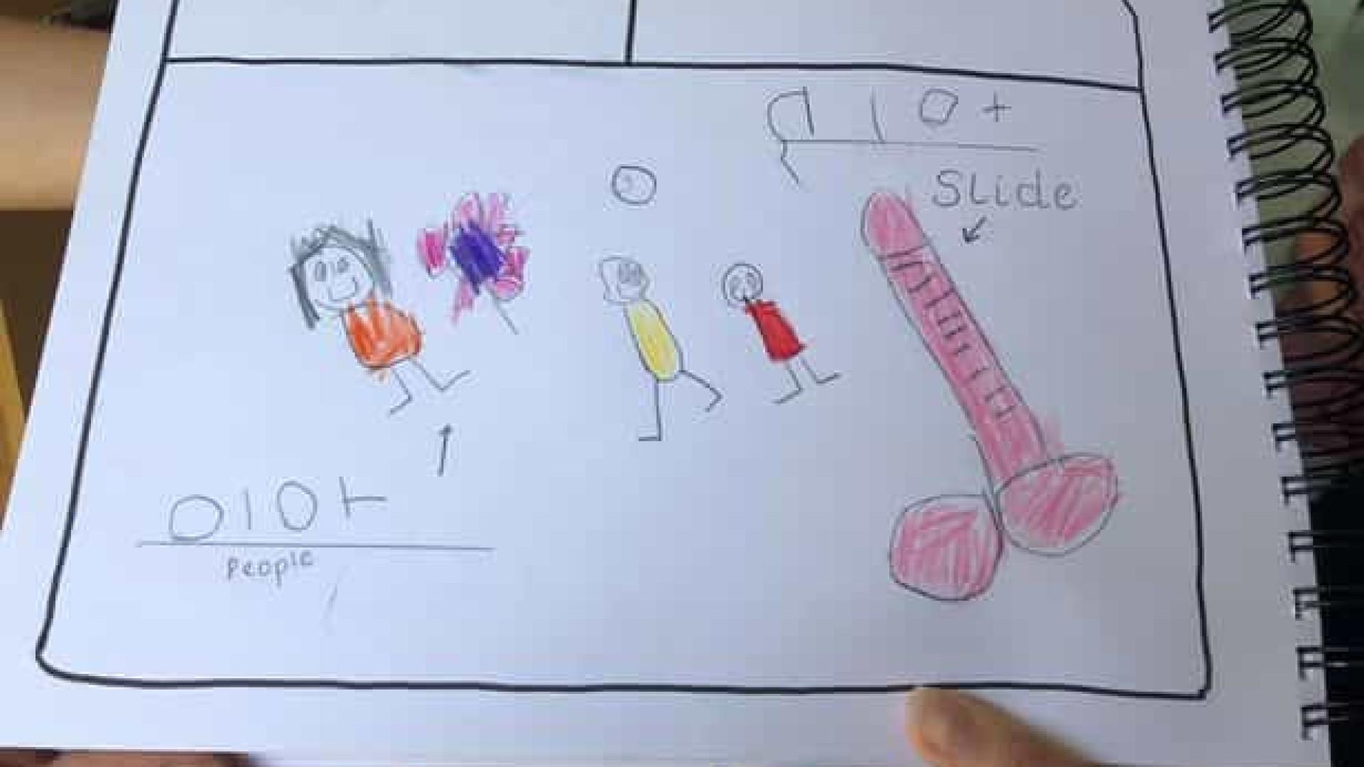 Mãe foi chamada à escola da filha por causa deste desenho