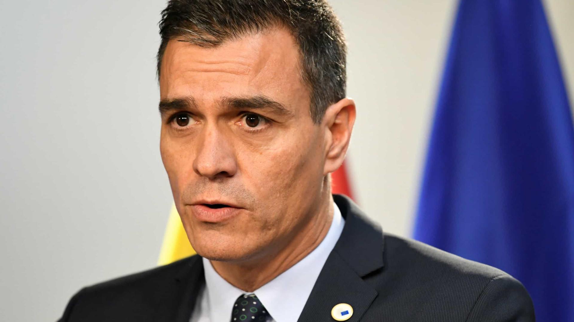 """""""Estado de direito não pode ceder ao impulso da exaltação"""", diz Sánchez"""
