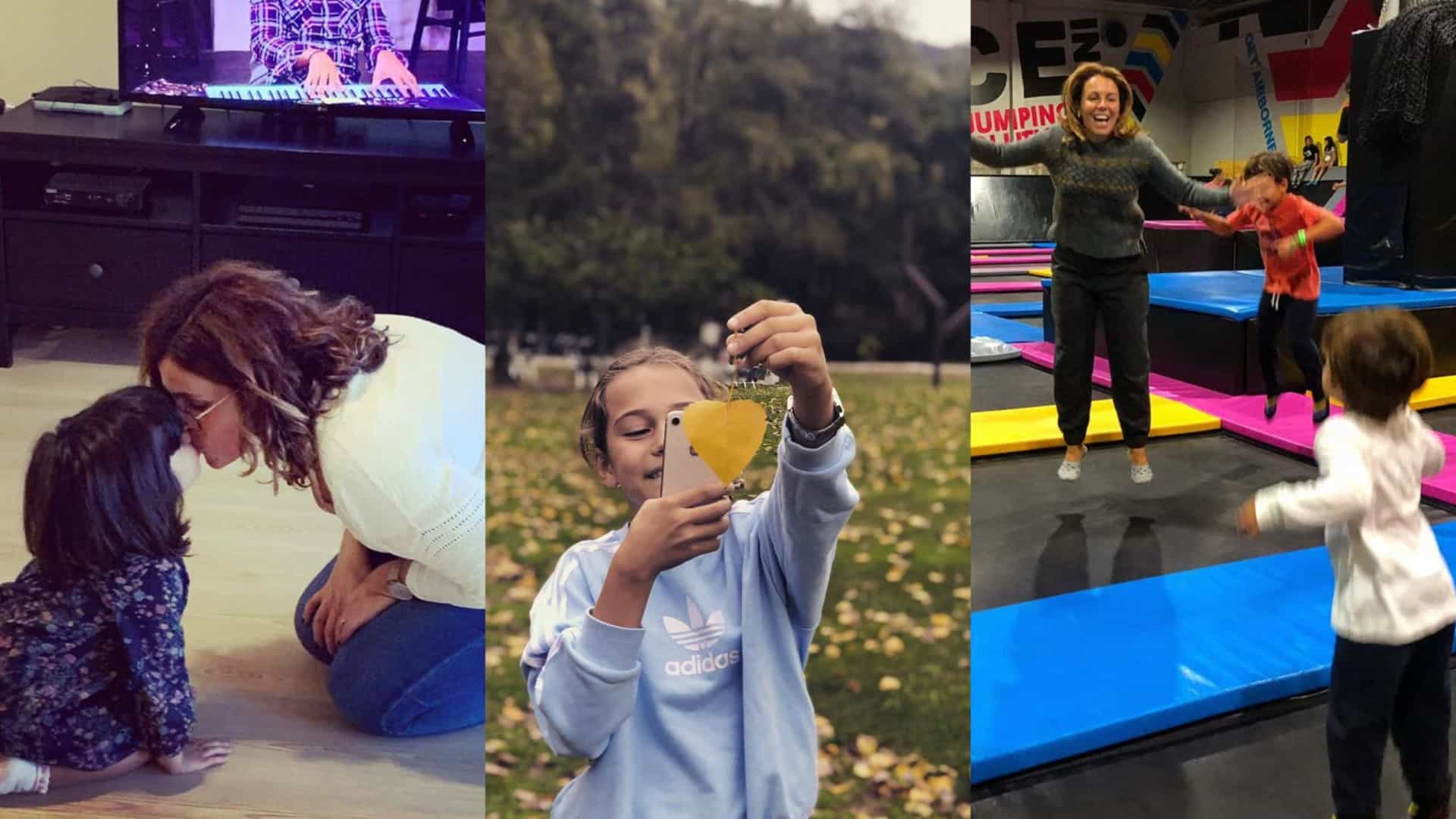 O que fizeram os famosos com os filhos neste fim-de-semana de chuva?