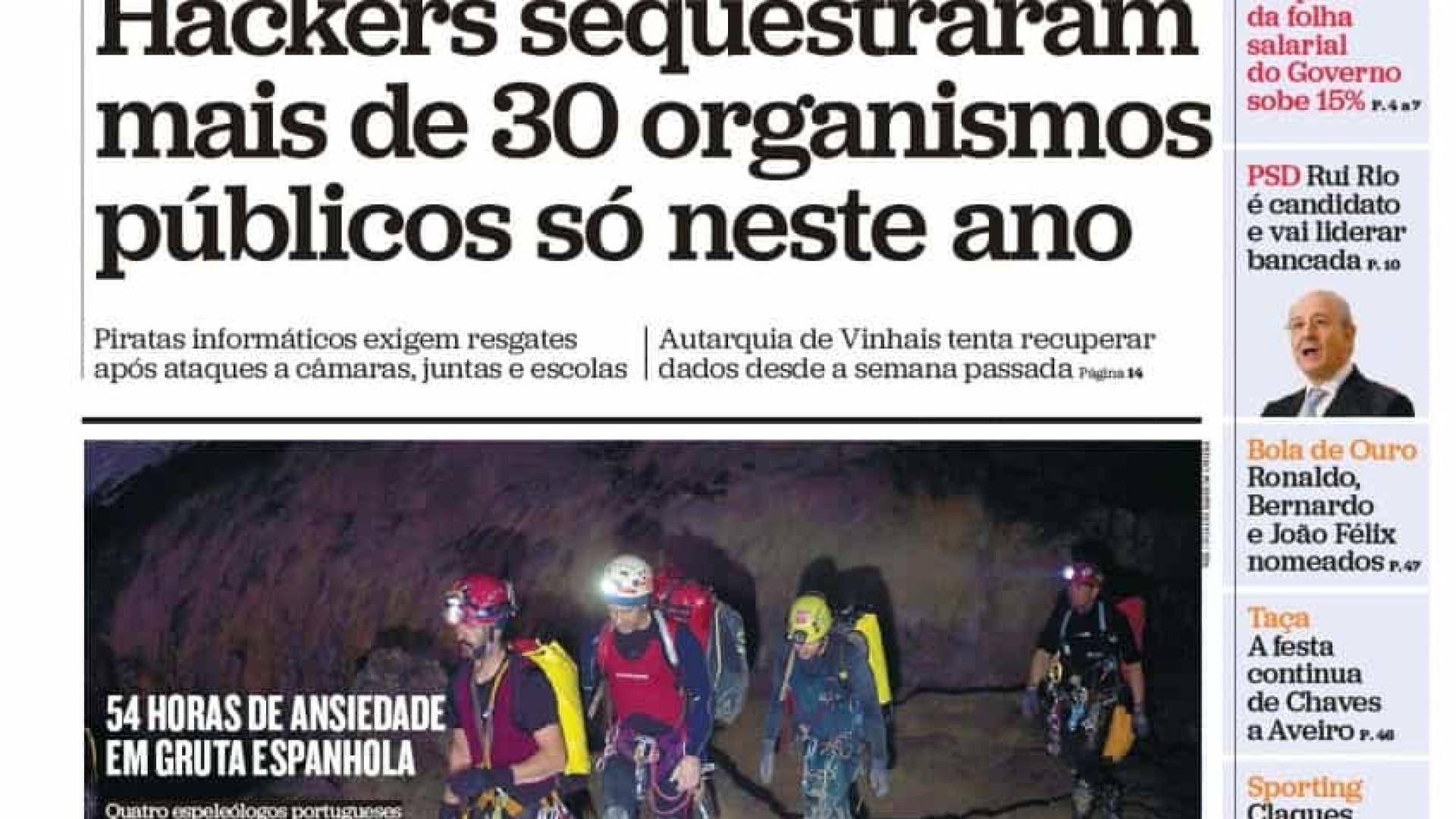 Hoje é notícia: Folha salarial 'engorda' 15%; Bebé sem rosto? Outro caso