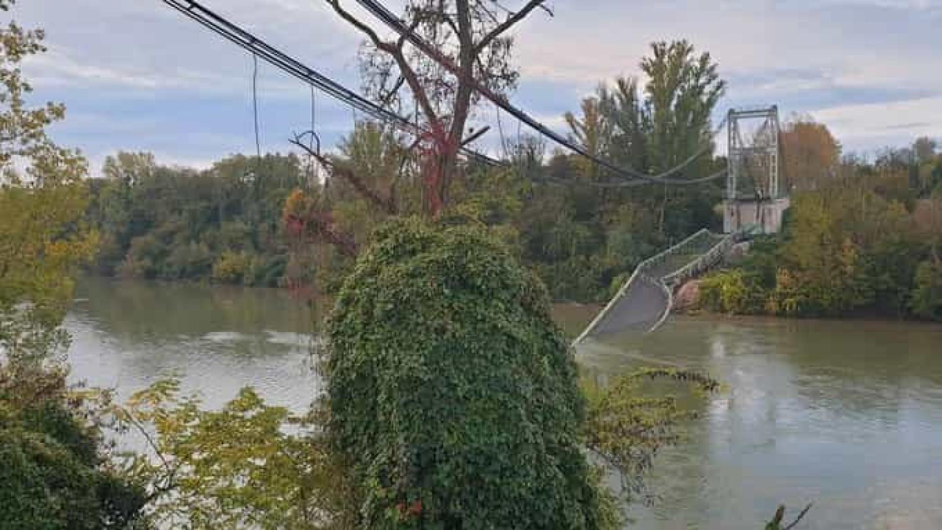 Ponte colapsa em Toulouse. Há pelo menos um morto