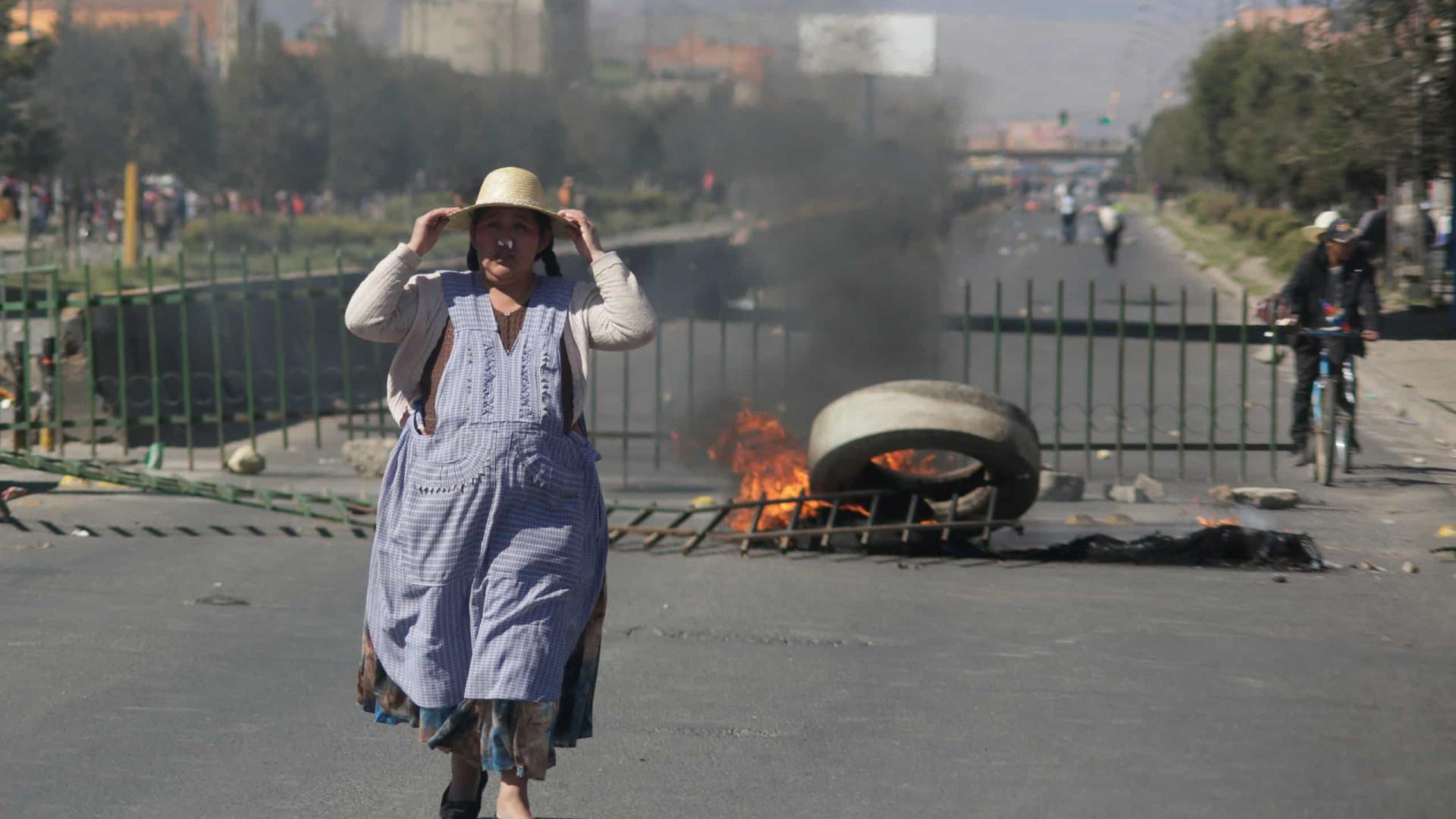 Bolívia (também) está a 'ferro e fogo'. Imagens mostram violência