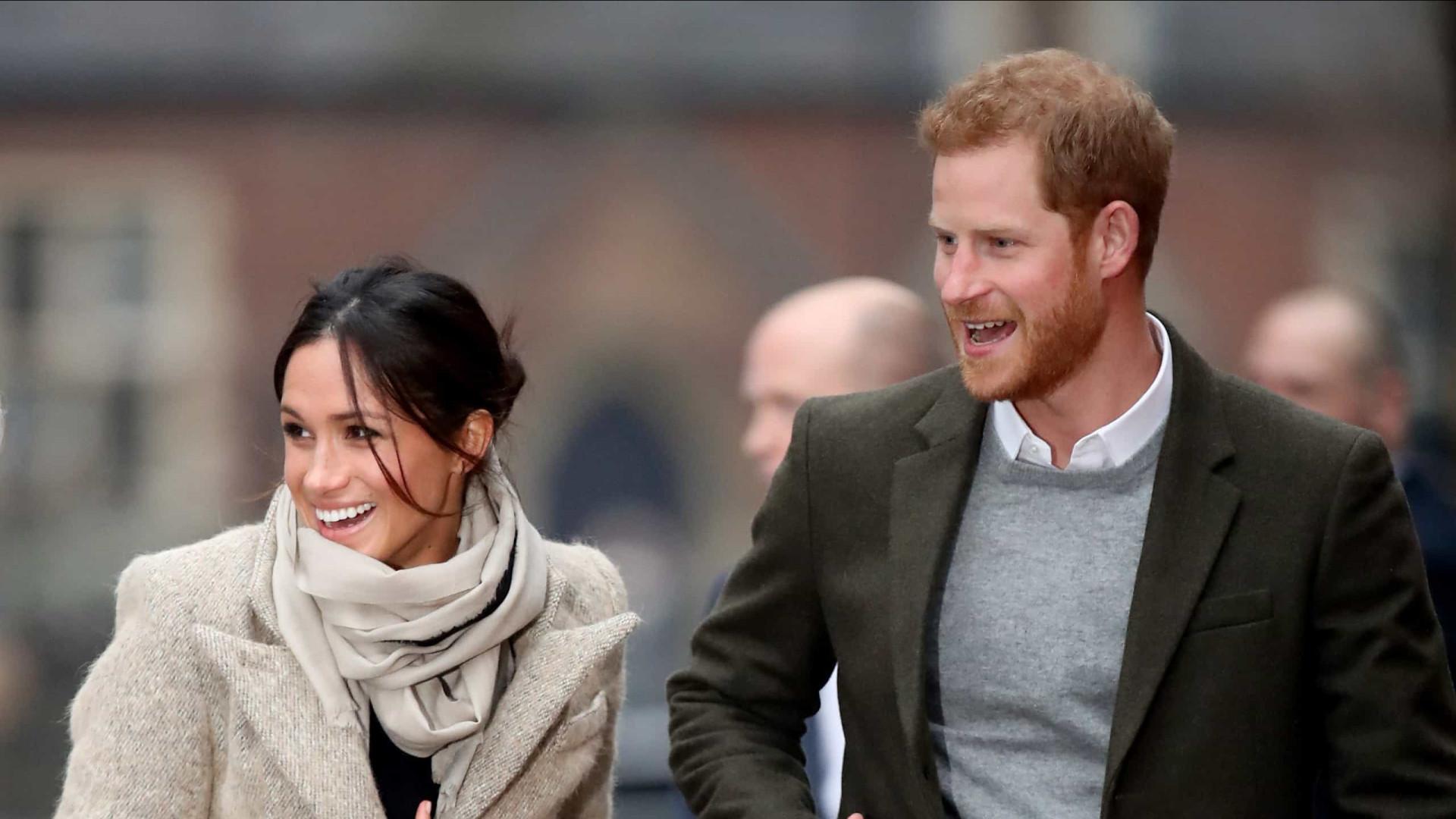 Meghan e Harry enviaram foto da filha à família real através do WhatsApp