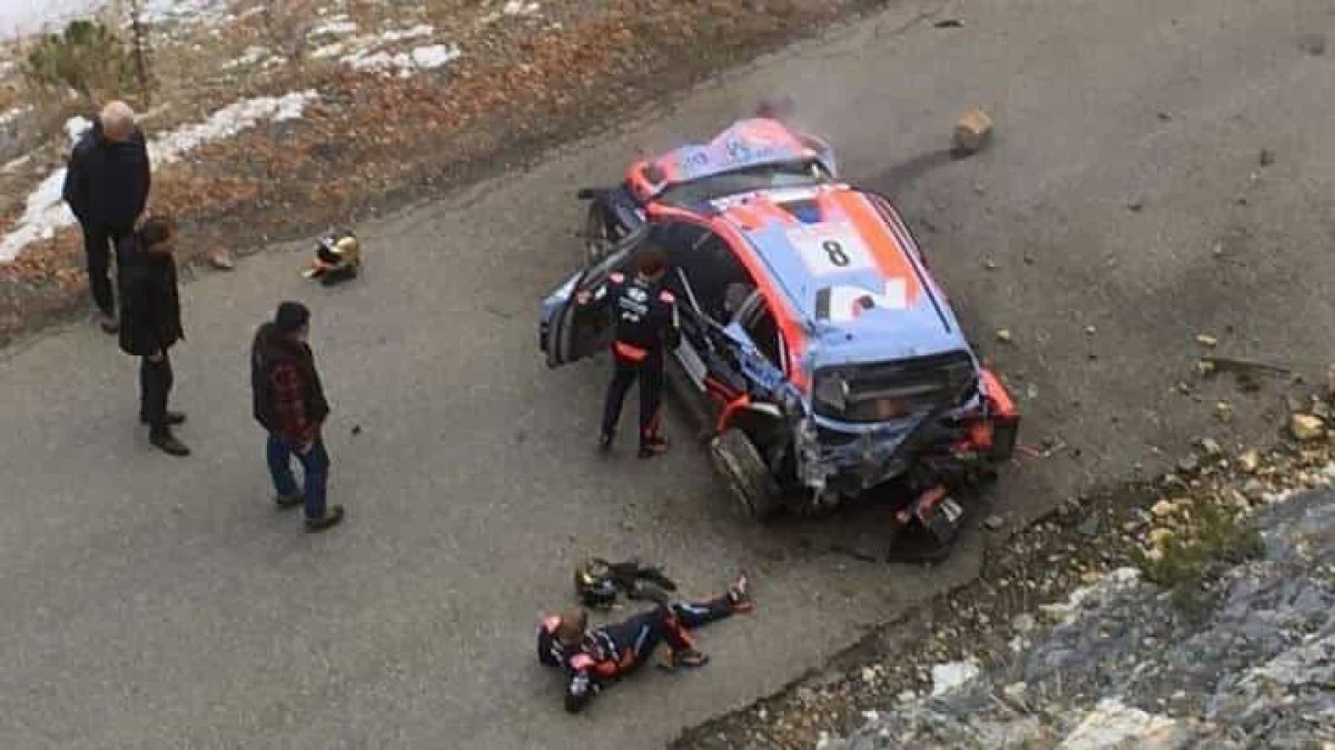 Assustador: Tanak sofre acidente em MonteCarlo a mais de 180 km/h