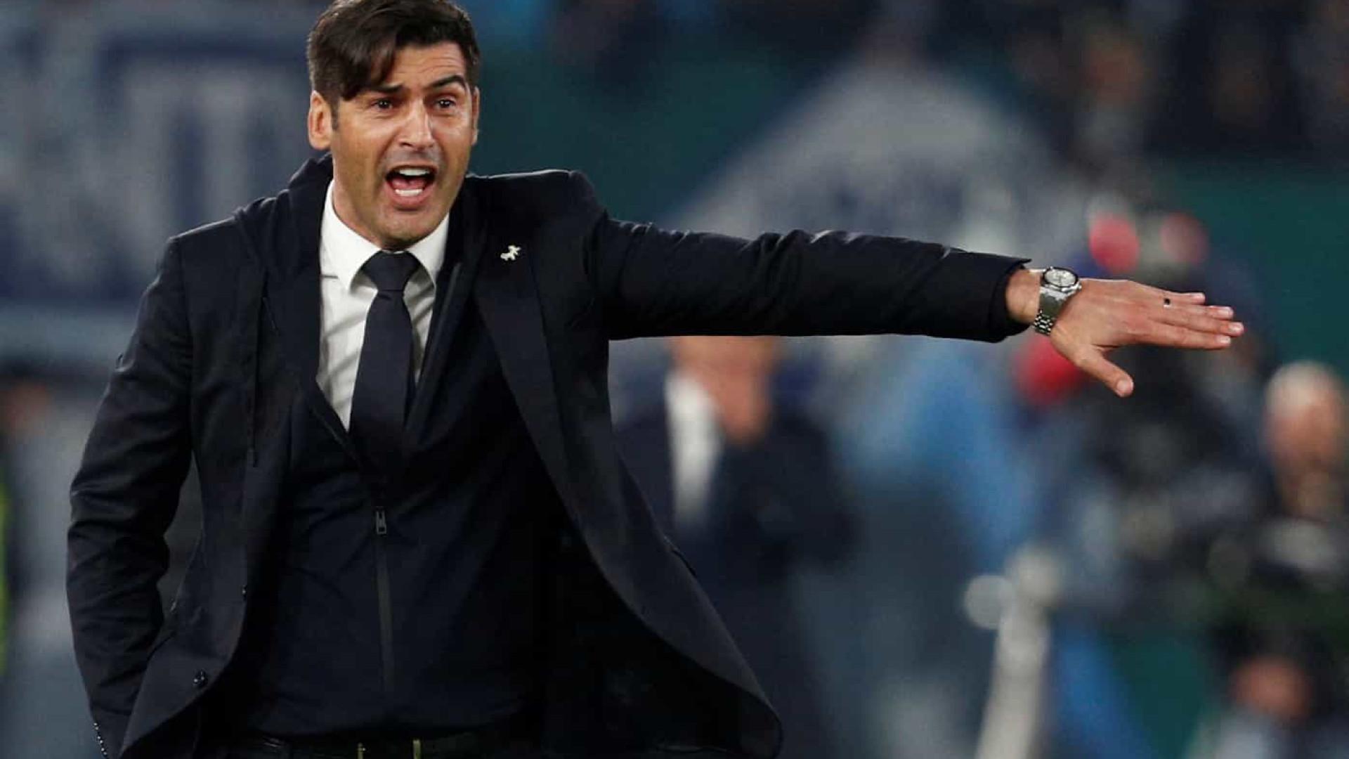 Roma de Paulo Fonseca sofre derrota por utilização irregular de jogador
