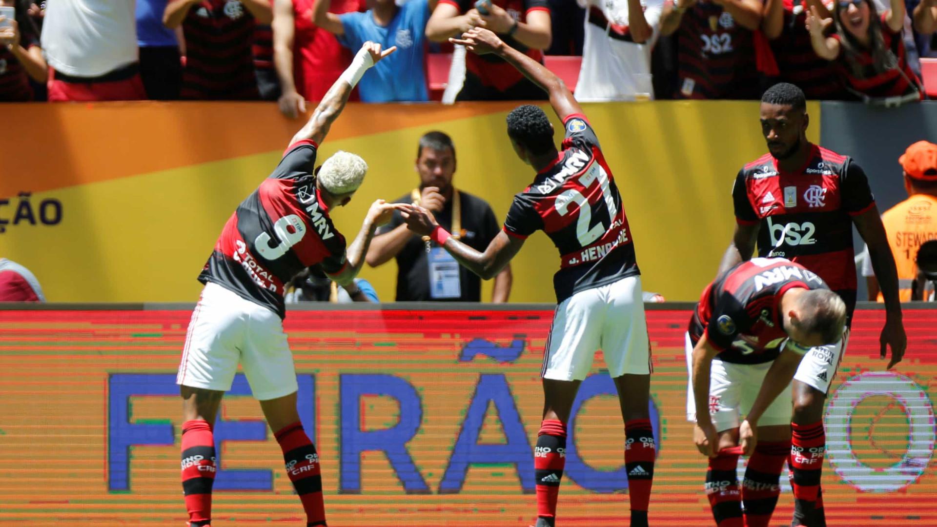 Jesus começa época em grande. Flamengo conquista a Supertaça do Brasil