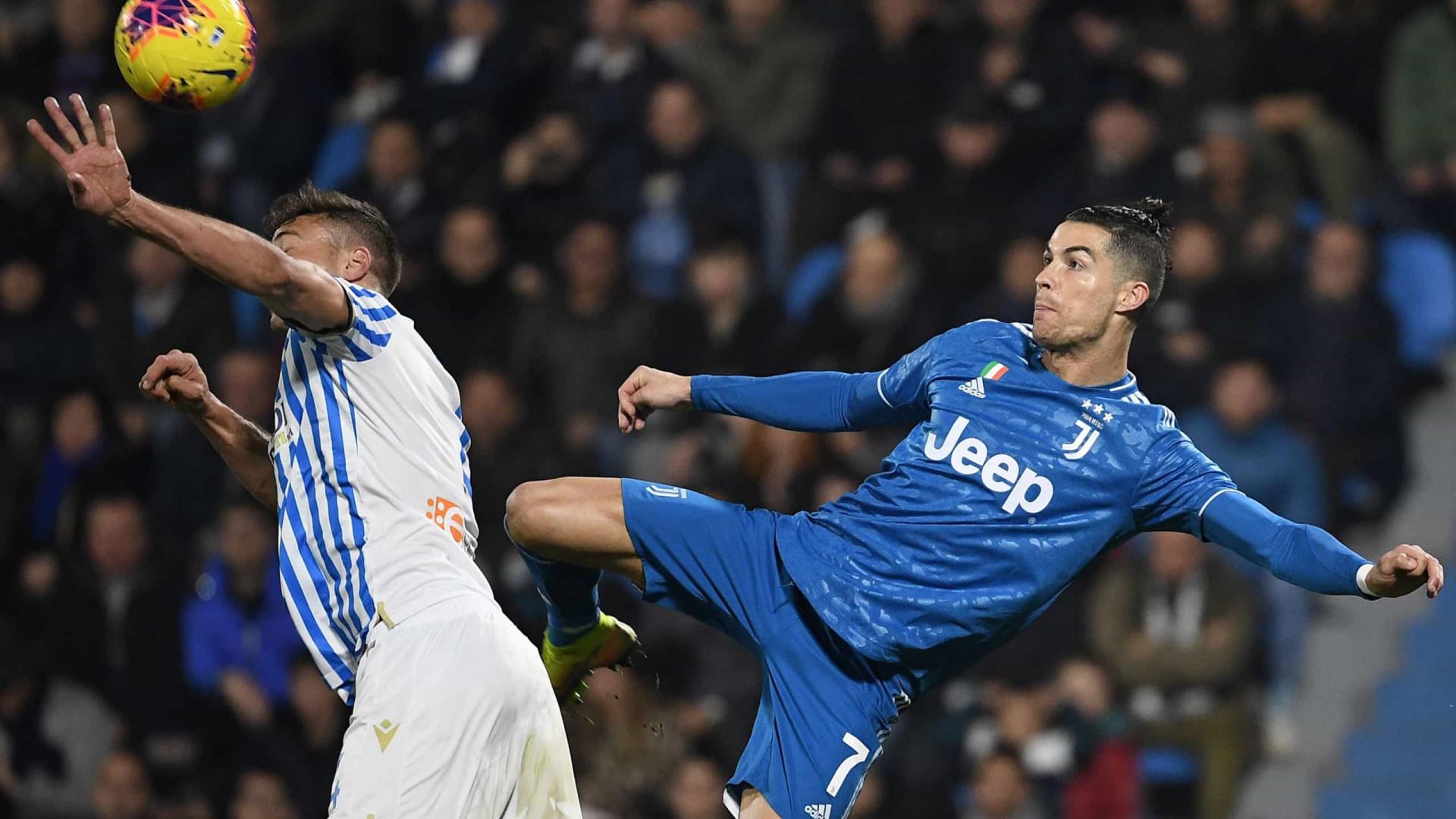 Juventus sofre mas vence num jogo em que Ronaldo voltou a fazer história