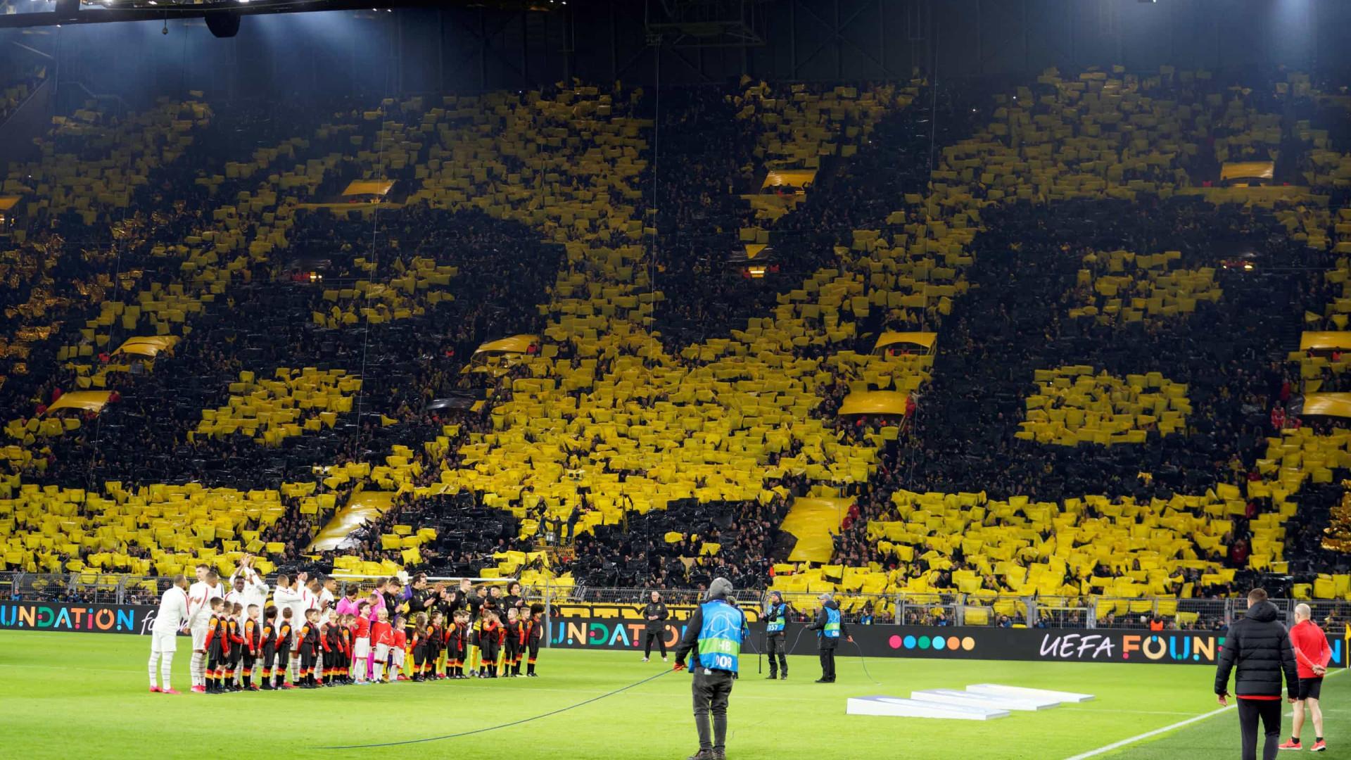 Adeptos do Borussia Dortmund doam mais de 70 mil euros a bares afetados