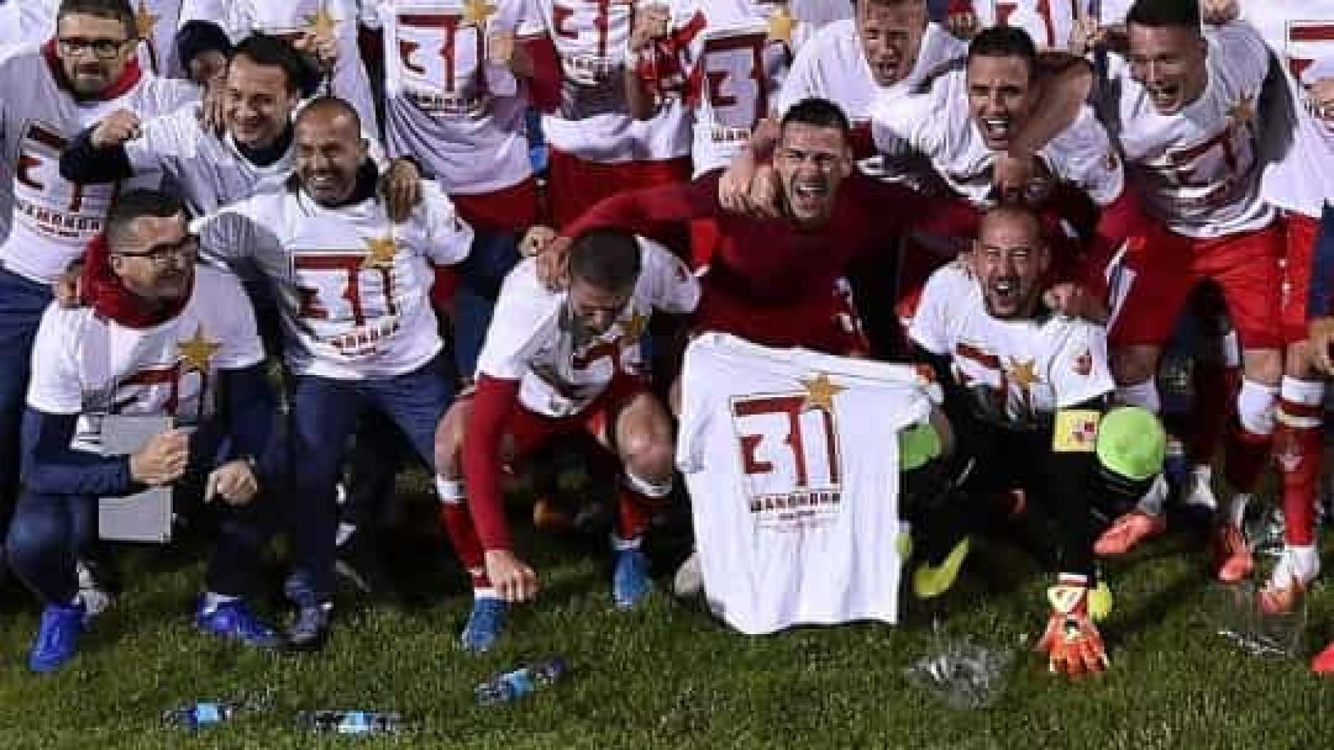 Estrela Vermelha sagra-se campeão com um português mas sem adeptos