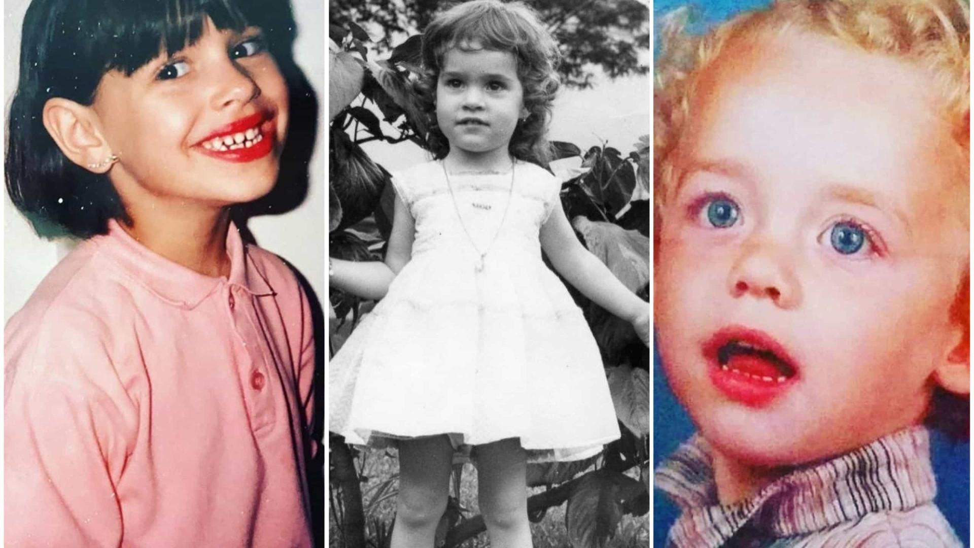 Desafio do Dia da Criança. Consegue descobrir quem são estes famosos?