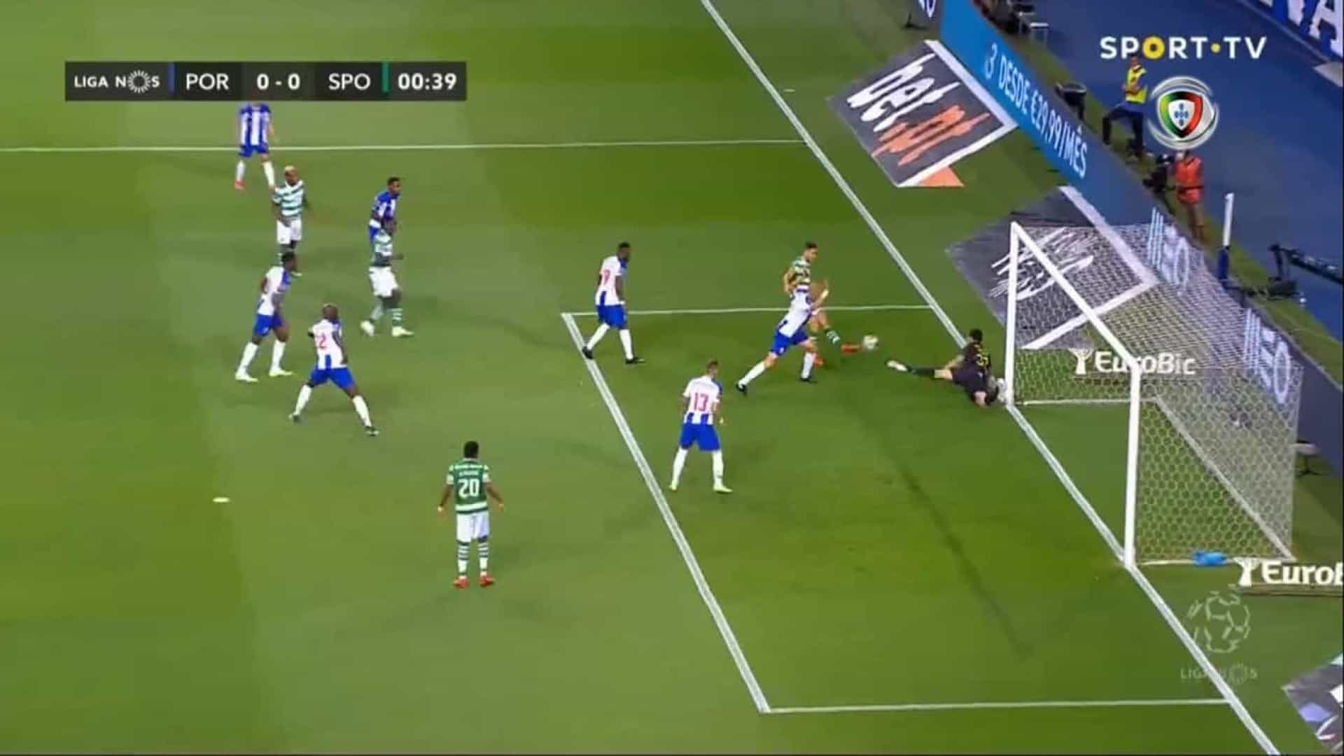 O Golo Anulado A Sporar Logo Aos 17 Segundos Do Fc Porto Sporting