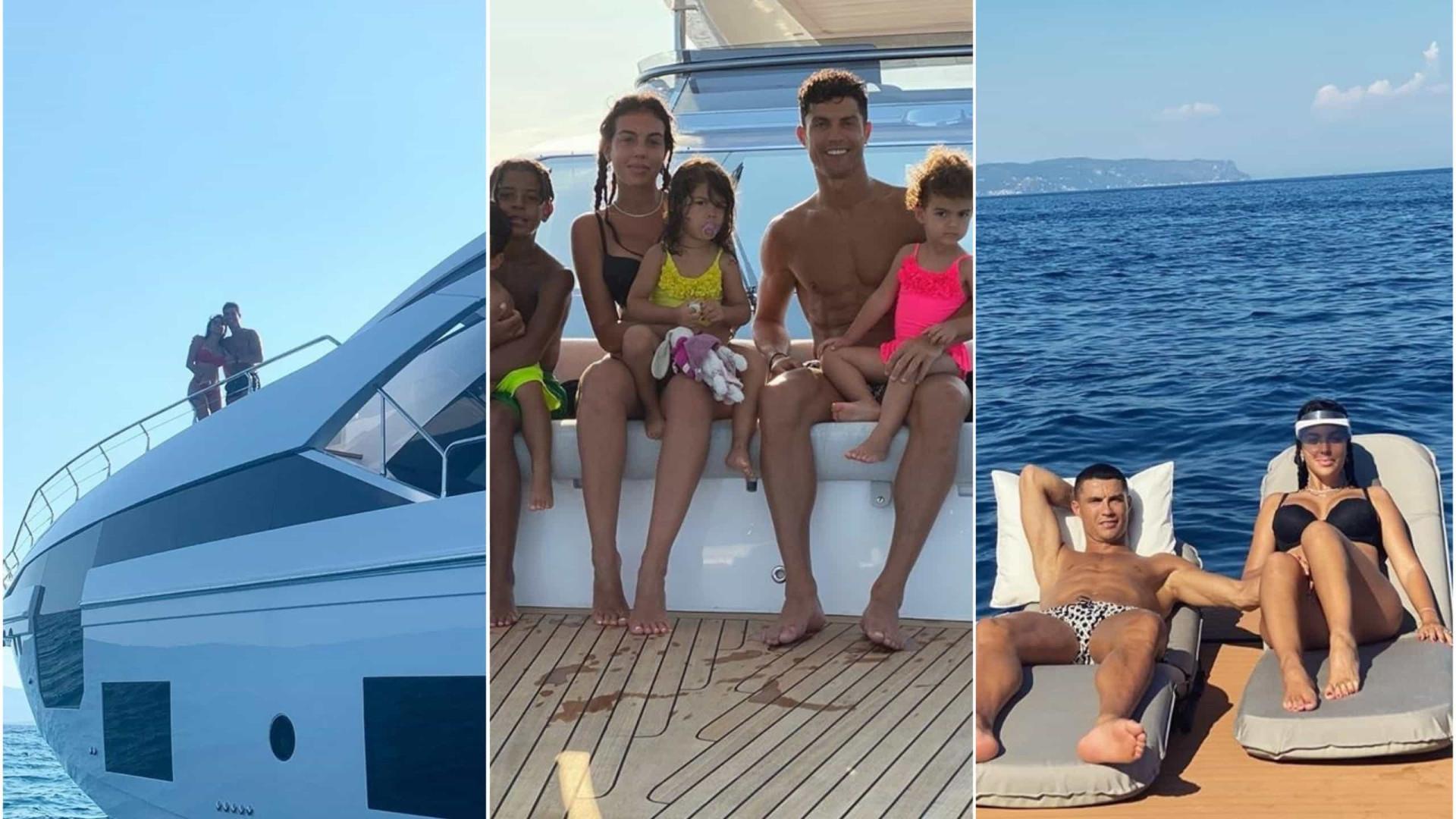 Álbum de família. As fotos do verão de Ronaldo e Georgina no iate de luxo