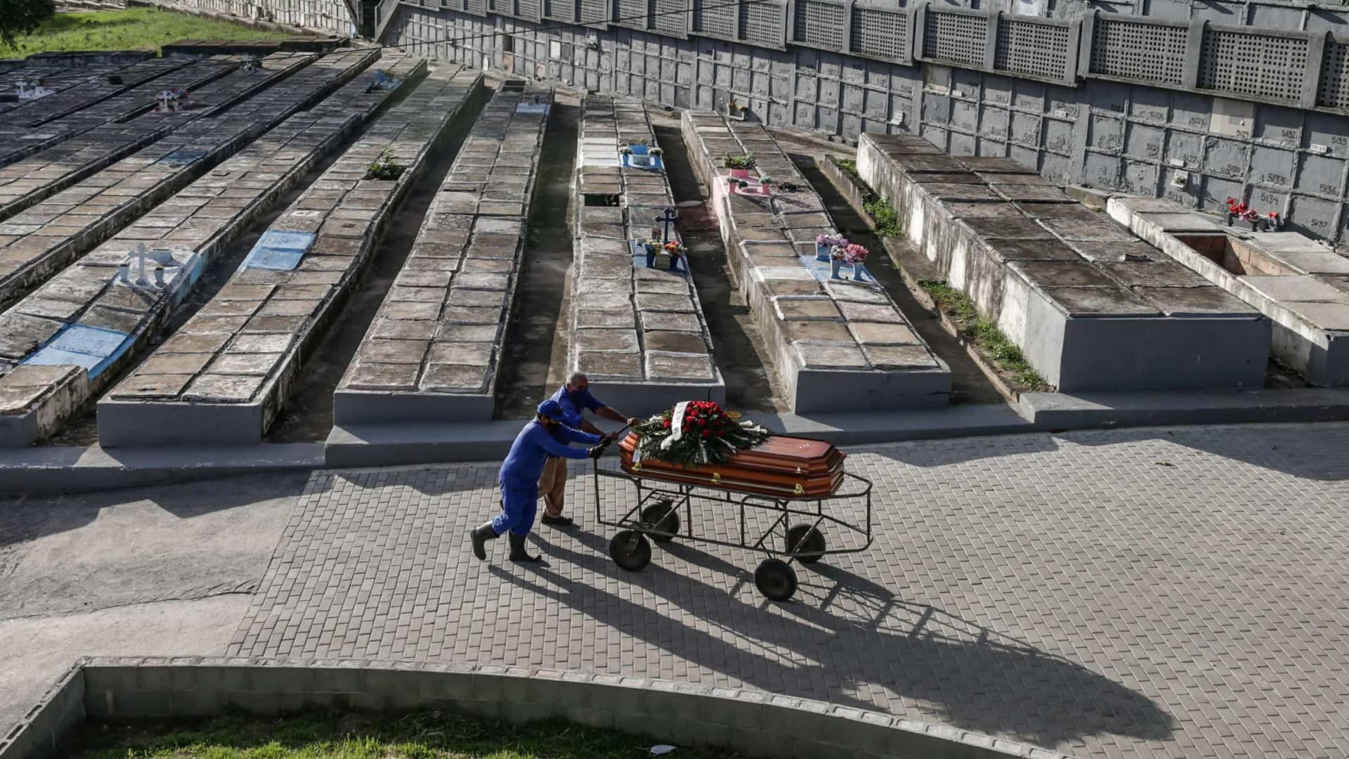 Contágios e mortes descem no Brasil. Total de óbitos acima dos 210 mil