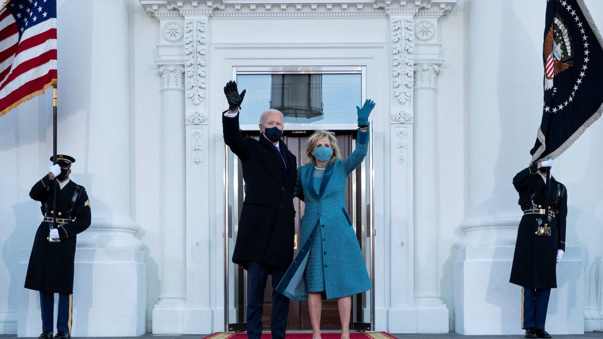 """As imagens de """"um novo dia na América"""" sob a liderança de Biden"""