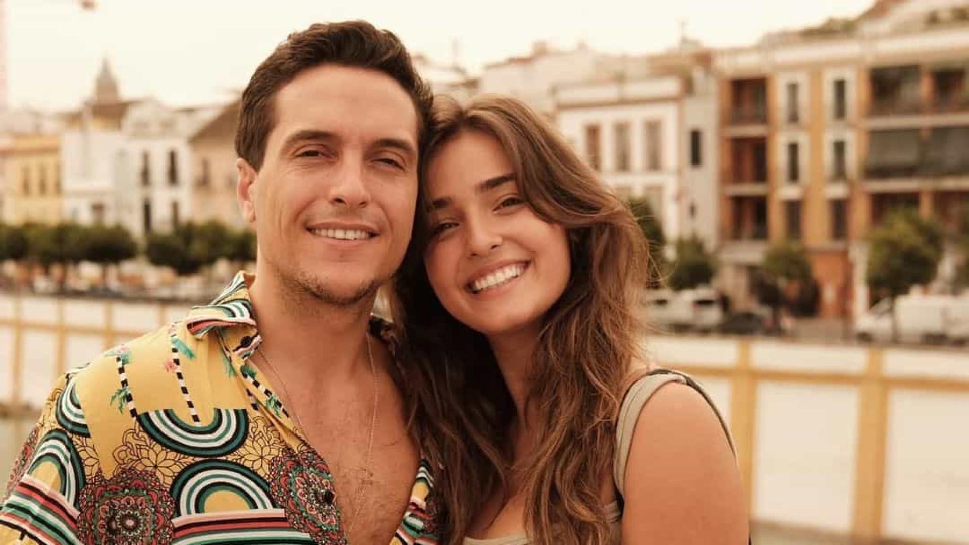 Angie Costa mostra momento único entre Miguel Coimbra e o filho