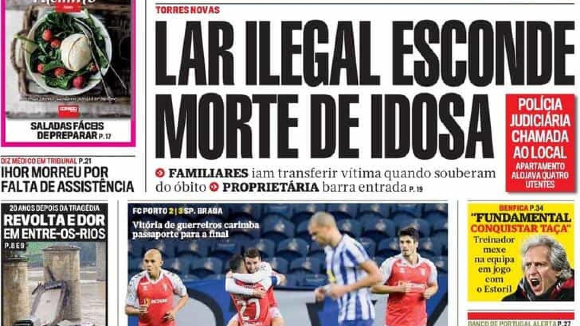 Hoje é notícia: Lar ilegal esconde morte de idosa; 'Narcos' em Lisboa