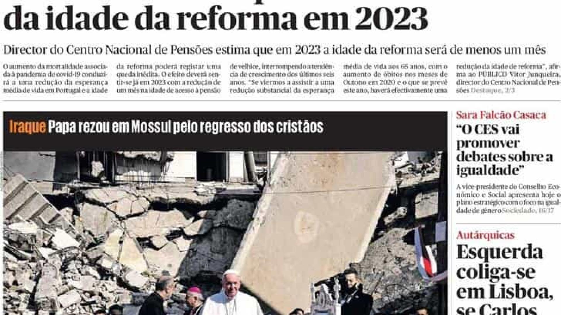 Hoje é notícia: Idade de reforma desce em 2023?; CR7 muda fortuna para cá