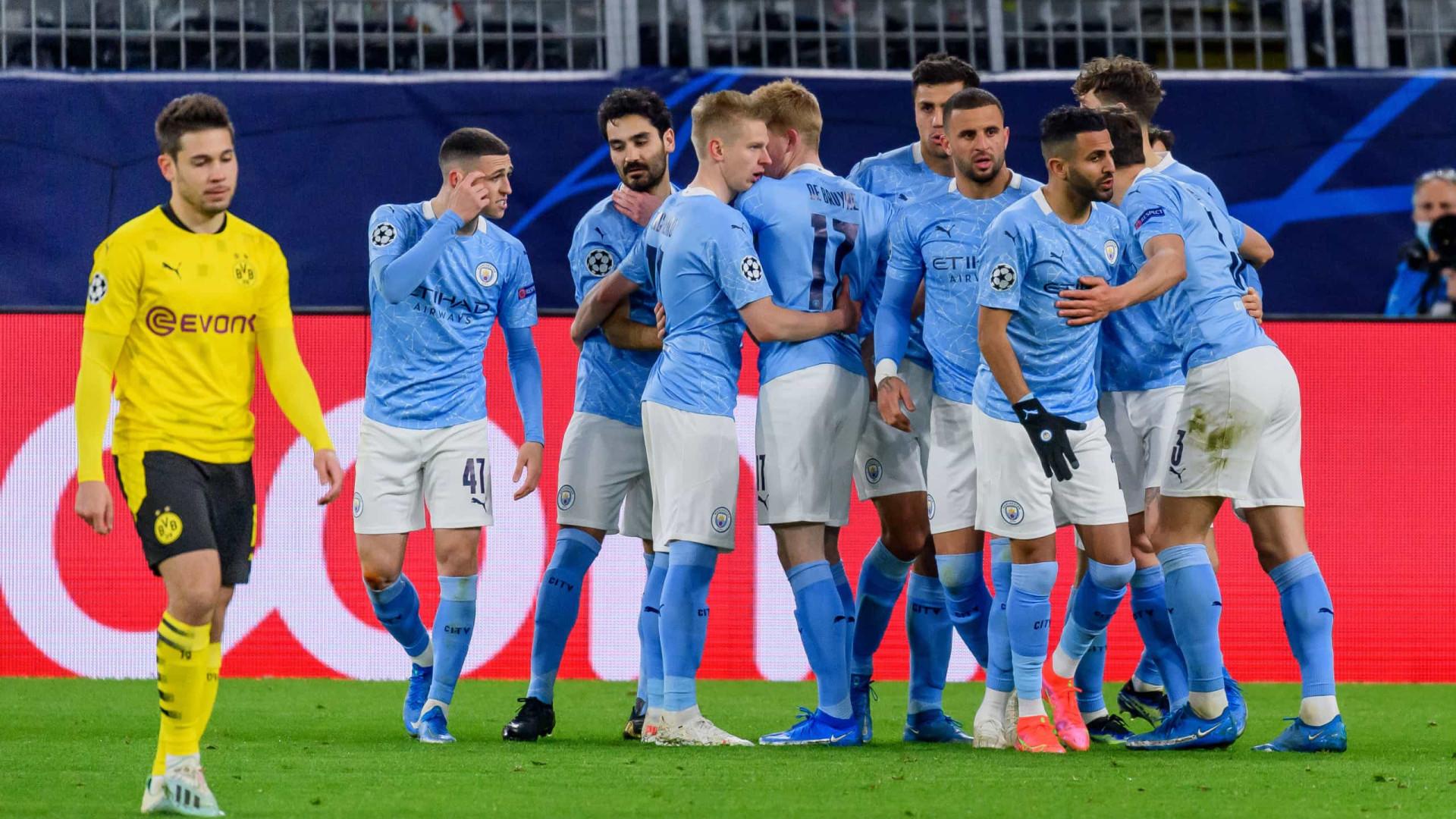 City volta a vencer Dortmund e segue viagem para as meias-finais