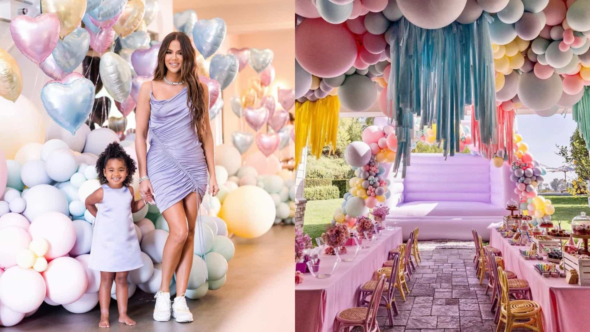Os pormenores da decoração da festa da filha de Khloé Kardashian