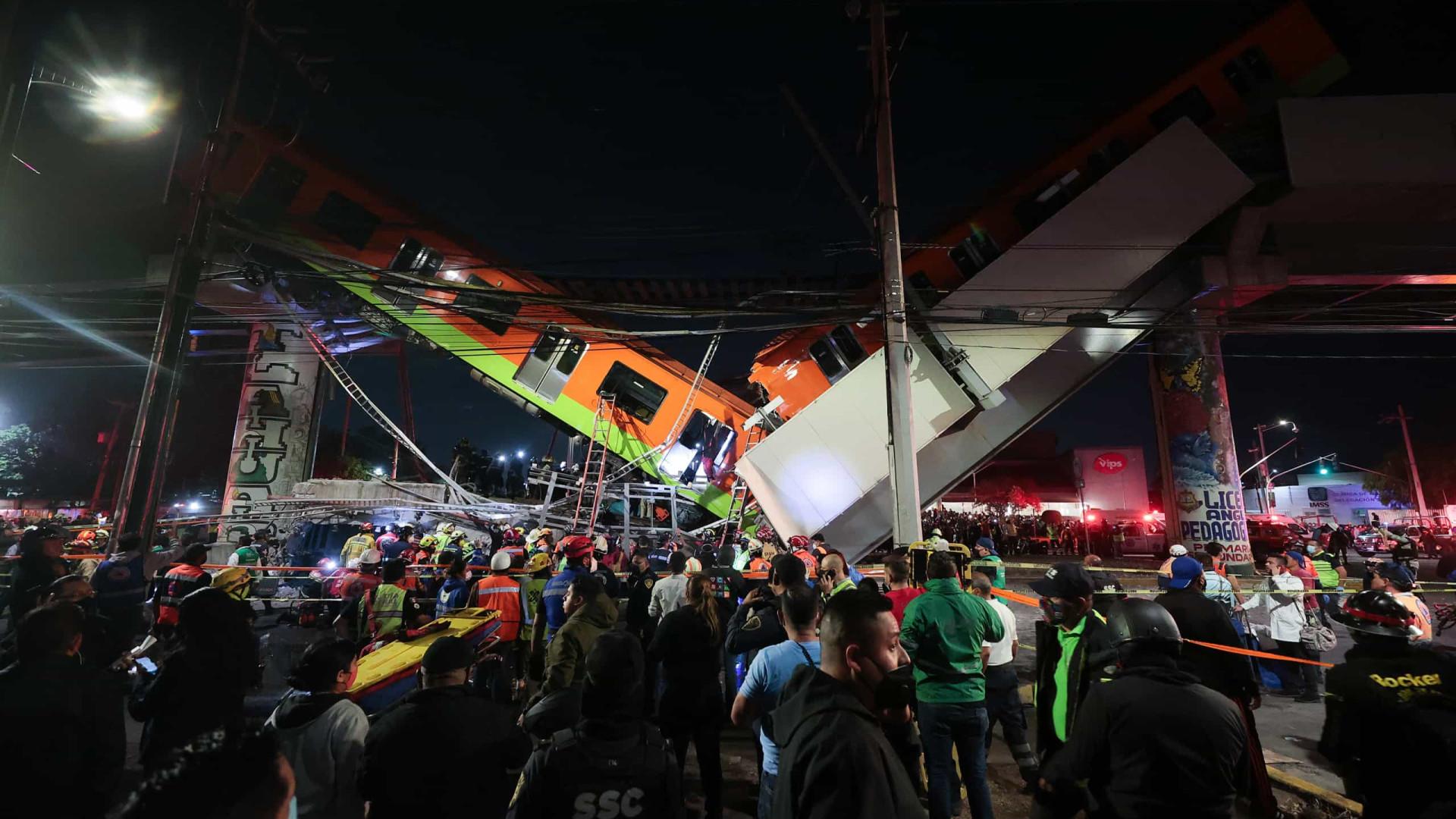 Pelo menos 23 mortos e dezenas de feridos em acidente de metro no México