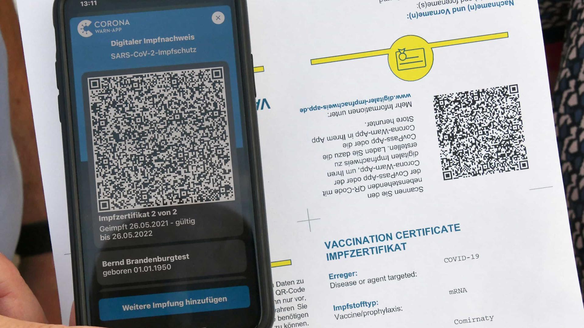 Certificados digitais Covid-19 começam a ser emitidos esta semana