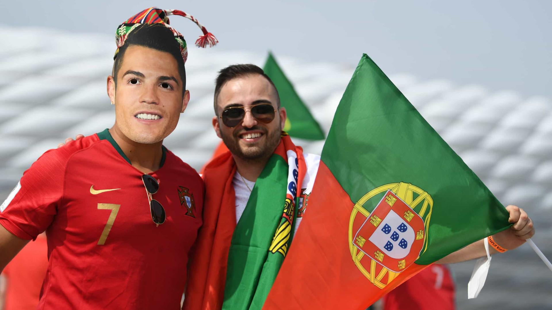Adeptos portugueses e alemães já fazem a festa junto ao estádio